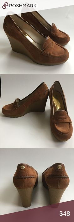783052074f2852 Michael Kors - Rory Wedge Loafer in Walnut - SZ Michael Kors - Rory Wedge  Loafer in Walnut - SZ Excellent used condition - a few scuffs from sitting  in ...
