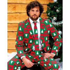 Niet precies een trui maar past volgens ons wel binnen het thema :-) Heren kostuum met kerst print. Steel de show met dit originele kerst kostuum met kerstbomen print. Het pak is gemaakt van hoogwaardig polyester en wordt geleverd met bijpassende stropdas.