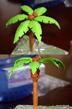 Gum Paste Palm Tree