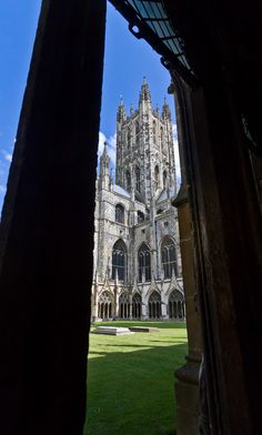Canterbury Cathedral from the Cloisters, England