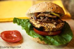Vegan Chickpea Quinoa Burgers with Lemon and Thyme