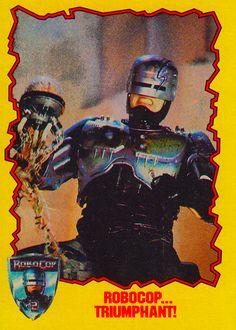 Robocop 2 vs Cain Trading Card Topps 1990 - found on Dinosaur Dracula