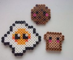 Egg cookies toste  made of pyssla beads