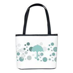 Mint Polka Dots Bucket Bag
