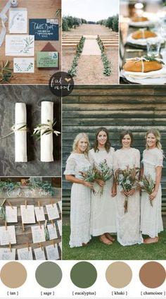 Rustic organic wedding colour palette { Muted Earth Tones } fabmood.com
