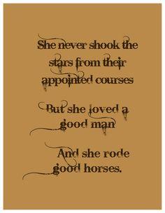 A good man and good horses.  Living room print?