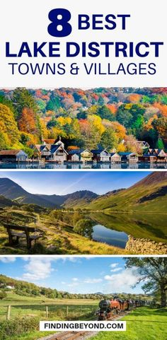 8 Best Lake District Towns and Villages to Stay Places To Travel, Places To See, Travel Destinations, Lake District Holidays, Visit Lake District, Lake District Walks, Peak District, Nottingham, Keswick Lake District