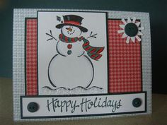 SC342 Frosty Holiday by stampin'nana - Cards and Paper Crafts at Splitcoaststampers