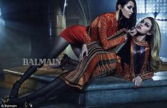 It takes two: Gigi and Bella Hadid star in Balmain's latest fashion campaign, which features three sets of sisters