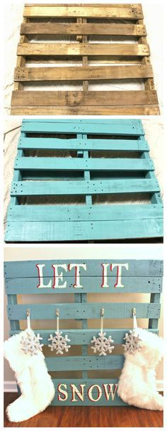 Stocking holder made from pallet wood   Homemade wood ...