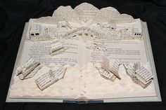 Around the World in 80 Days book sculpture. {by Deviant Art artist *wetcanvas]