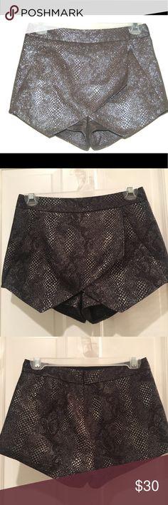 Express Skort Metallic snake print skort Express Skirts Mini