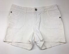 Girl's Arizona Jean Shorts, White, Size 14 #Arizona #Everyday