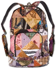 SoulFlower-NEW! Aerial Patchwork Backpack-$32.00