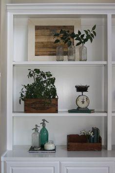 Joanna Gaines's Blog | HGTV Fixer Upper | Magnolia Homes...how to arrange items on your shelves.