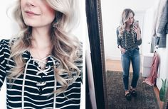 Simple stripes OOTD AndreaClare