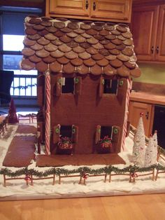 Mama's 2009 gingerbread house