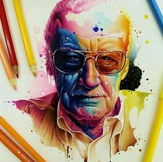 Drawing Marvel Comics Stan Lee, a real-life Super Hero. He has made the world a better place by giving us his comic creations. Rest In Peace. Marvel Comics, Arte Dc Comics, Marvel Fan, Marvel Avengers, Character Drawing, Comic Character, Tolkien, Comic Books Art, Comic Art