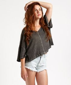 Look what I found on #zulily! Cotton Linen-Blend Kim's Tee by Free People #zulilyfinds
