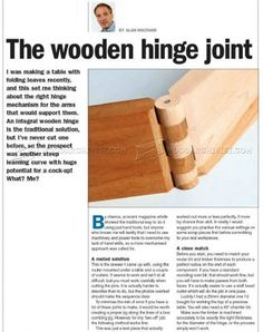 #1259 Cutting Wood Hinge Joint - Joinery