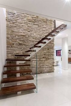 Image result for mono stringer stairs glass balustrades