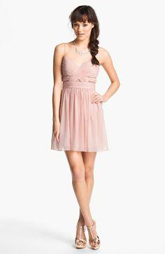 Hailey Logan Cutout Chiffon Dress (Juniors) | Nordstrom