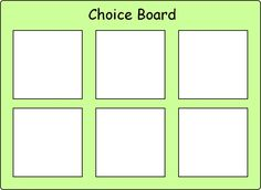 Choice board (6) I am thinking of making this and having putting things up each day of different activities they can work on in spare time.