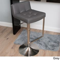 @Overstock - Looper Tufted Low-back Adjustable-height Swivel Stool - This slick, stylish barstool features a modern construction with a fabulous tufted design for maximum comfort and style. Engineered to give you support without compromising artistry, this leatherette seat with gas lift is essential to your living space.  http://www.overstock.com/Home-Garden/Looper-Tufted-Low-back-Adjustable-height-Swivel-Stool/8330128/product.html?CID=214117 $194.99