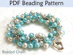 Beaded Chain Bracelet PDF Beading Pattern