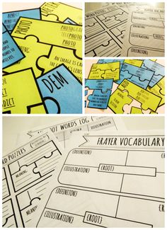 Fantastic hands-on practice for Greek and Latin roots! Over 40 puzzles and activities included. Perfect for centers!