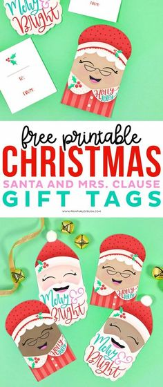 Free Santa and Mrs Claus Gift Tags - Printable Crush