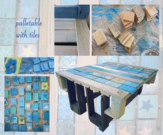 palletable with tiles Tiles, Recycling, Furniture, Home Decor, Bricolage, Room Tiles, Decoration Home, Room Decor, Tile
