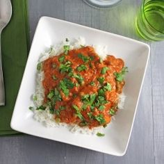 Chicken Tikka Masala.......very tasty if you like strong flavors.  I enjoyed it but did not feel so good the next morning.  I made too much and still have it in my freezer.