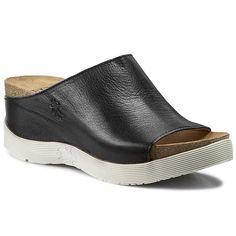 Șlapi FLY LONDON - Wigg P143672000 Black Fly London, Heeled Mules, Shoes, Black, Fashion, Moda, Zapatos, Shoes Outlet, Black People