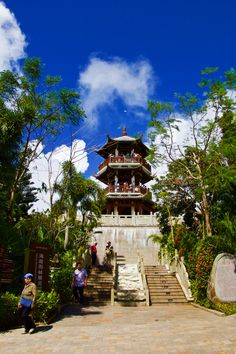 Amazing view of Chinese Pagoda in Yalong Bay Tropical Paradise Forest Park🇨🇳   @visi #HeartofExcellence #SanyaHeartstoHearts