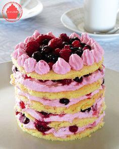 Q-e-zine: Layer cake girly aux fruits rouges pour la bataill...
