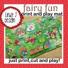 FAIRY FUN Print and Play Mat playmat PDF pattern