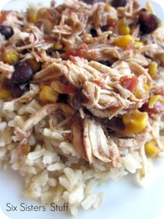 Healthy Slow Cooker Mango Chicken from sixsistersstuff.com #slowcooker #recipe #chicken