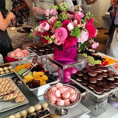 Dessert display at Party Rental Ltd. spring showcase in #NYC #catering #rentals