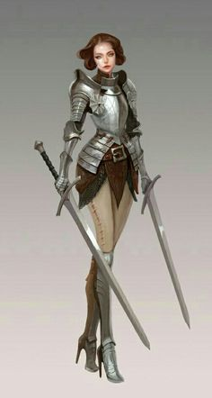 Female Dual Wield Fighter - Pathfinder PFRPG DND D&D d20 fantasy