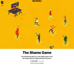 New Republic: The Shame Game on Behance