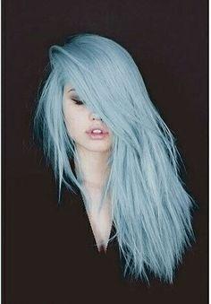 Light blue hair style