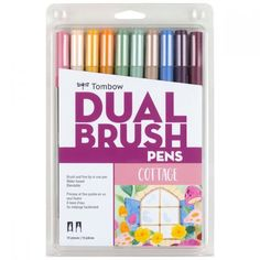 Create your best work with Tombow Dual Brush Pen Art Markers. Shop online for a high-quality selection of art and craft supplies from Tombow USA. Brush Pen Art, Tombow Dual Brush Pen, Tombow Markers, Brush Markers, Marker Paper, Marker Art, Blender Pen, Fine Pens, Pen Sets