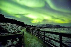 Green Moonlight - Aurora Borealis by Oli Haukur
