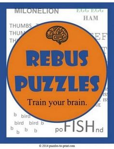 Rebus puzzles can help stretch your mind and stimulate creativity. Print these out and see how many your friends can guess. Rebus Puzzles, Mind Puzzles, Logic Puzzles, Logic Games, Brain Teasers Riddles, Brain Teaser Puzzles, Fun Brain, Brain Games, Speech Therapy Activities
