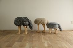 Together, these little guys bring a rural vibe to one's #home.  Creating the warmth of #family, these Takumi #animal stools bring out the #love in animal #lovers.  Have no fear, these handcrafted stools are worthy of #SanFrancisco's best with their#fauxfur. #Vegan-friendly and #ecological. These small stools will make a large impact in the #hearts of the homeowner and guests alike.  Takumi furniture available in our #SF #design store.