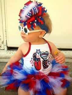 4th of july boutique ott over the top bow by bellabuttonsbowtique, $25.00