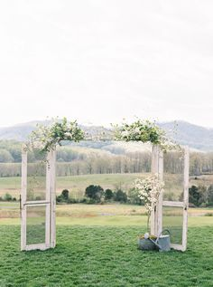 Combining Southern charm with crisp mountain air, this Pippin Hill Farm affair is dreamy beyond compare. The warm Southern Blooms By Pat's Floral Designs accentuated the landscapes natural hues, while Shaking Hands captured a film that proved all eyes were on the lovely duo. Amanda Gray was