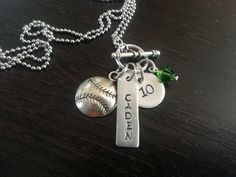 Sports Mom Handstamped Necklace by ShopGingerSquared on Etsy, $26.00