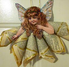 Vintage angel ornaments GF